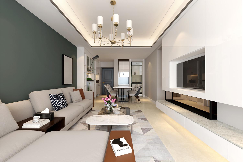成都綠地中心468公館,現代家居空間設計裝修