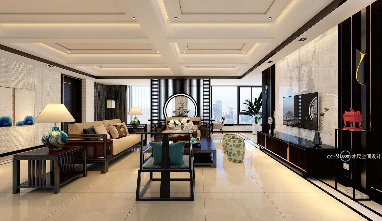 星海灣,成都家裝設計裝修方案,疊拼戶型合并成大平層,頂層戶型設計。