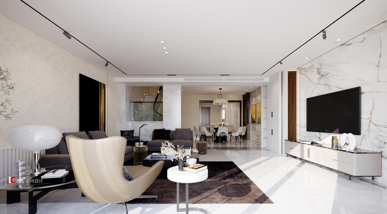 成都別墅設計|錦鎮一期低層戶型別墅空間設計。